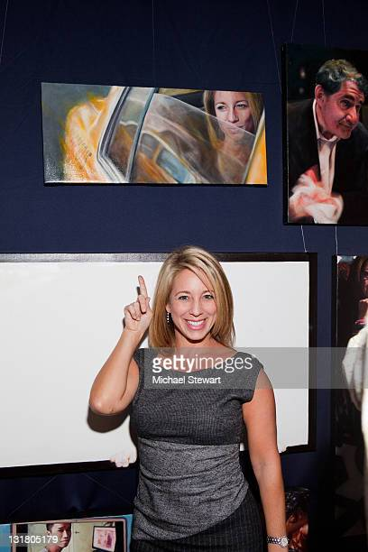 "Anchor Lauren Glassberg attends Vincent Fantauzzo's ""30 Portraits 30 Days, NYC"" exhibition opening at The National Arts Club on October 7, 2010 in..."