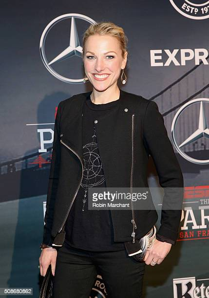 Anchor Lindsay Czarniak attends ESPN The Party on February 5 2016 in San Francisco California