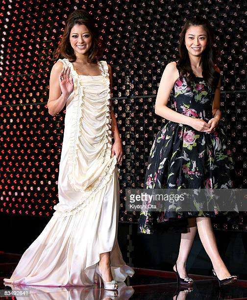 TV anchor Mao Kobayashi and model Rio Matsumoto attend 'Red Cliff Part 1' PreOpening Gala at Roppongi Hills on October 30 2008 in Tokyo Japan The...
