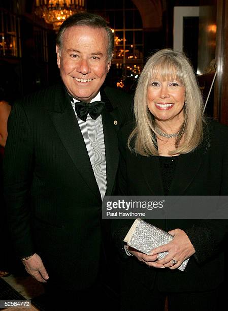 WB11 anchor Marvin Scott and his wife Lorri attend the 48th Annual New York Emmy Awards at the Waldorf Astoria on April 3 2005 in New York City