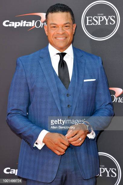 ESPN anchor Michael Eaves attends The 2018 ESPYS at Microsoft Theater on July 18 2018 in Los Angeles California