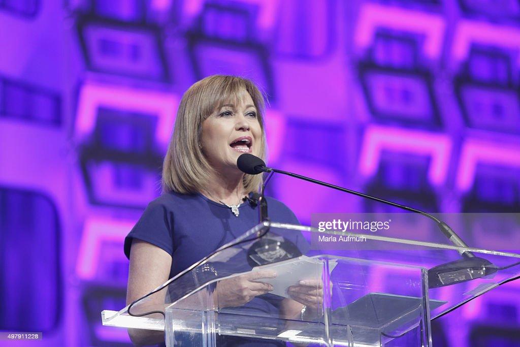 TV Anchor Monica Malpass speaks on stage during Pennsylvania Conference For Women at Pennsylvania Convention Center on November 19, 2015 in Philadelphia, Pennsylvania.