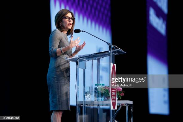 Anchor NBC Bay Area Jessica Aguirre speaks onstage at the Watermark Conference for Women 2018 at San Jose Convention Center on February 23 2018 in...