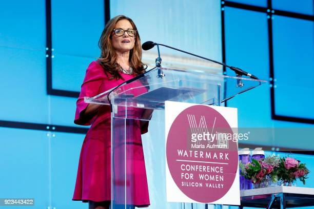 Anchor NBC Bay Area Laura Garcia speaks onstage at the Watermark Conference for Women 2018 at San Jose Convention Center on February 23 2018 in San...