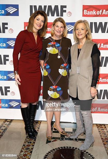 CBS anchor Norah O'Donnell Sally Sussman and Hillary Rosen attends 27th Annual Courage in Journalism Awards Ceremony at Cipriani 42nd Street on...