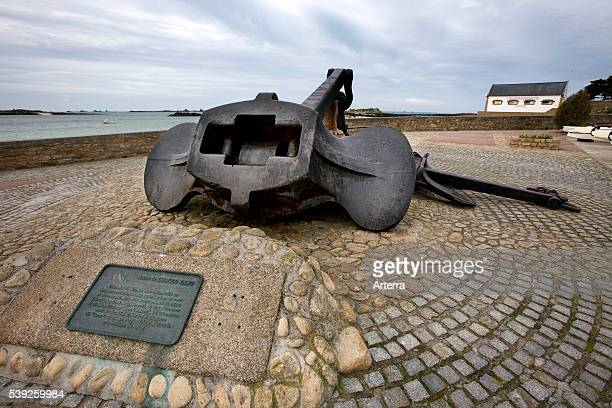 Anchor of the Amoco Cadiz oil tanker, wrecked in March 1978 at Portsall, Brittany, France.
