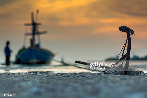 Anchor on sand