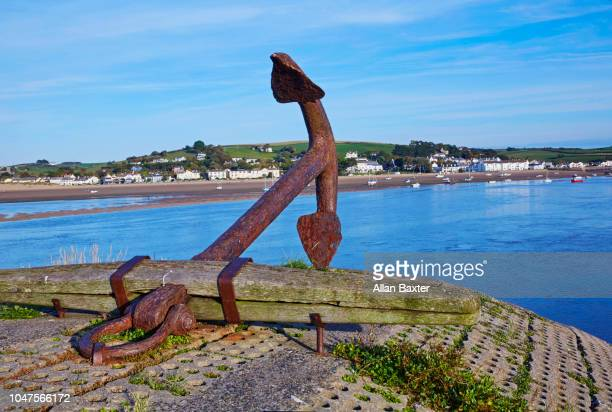 Anchor on the quayside of Appledore in North Devon