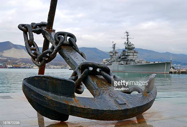 anchor - military ship stock pictures, royalty-free photos & images