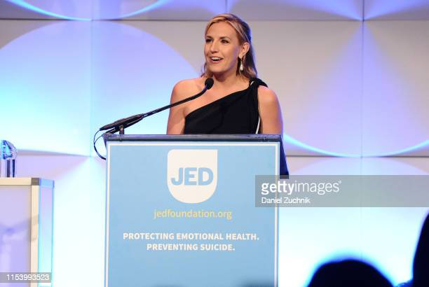 CNN anchor Poppy Harlow attends the Jed Foundation's Annual Gala an evening dedicated to creating connections promoting emotional health and...