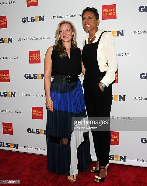 TV anchor Robin Roberts and Amber Laign attend 11th Annual GLSEN Respect awards at Gotham Hall on May 19 2014 in New York City