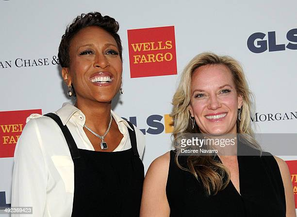 TV anchor Robin Roberts and Amber Laign attends 11th Annual GLSEN Respect awards at Gotham Hall on May 19 2014 in New York City