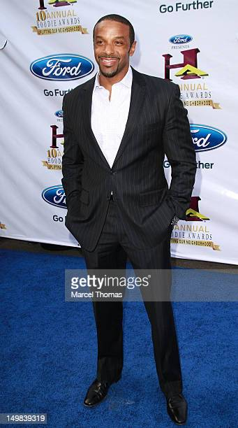 Anchor Ryan Smith walks the blue carpet at the 10th Annual Ford Hoodie Awards at MGM Garden Arena on August 4, 2012 in Las Vegas, Nevada.