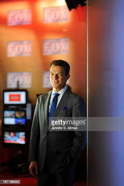 TV anchor Shepard Smith is photographed for Los Angeles Times on March 18 2013 in his studio at Fox News in New York City