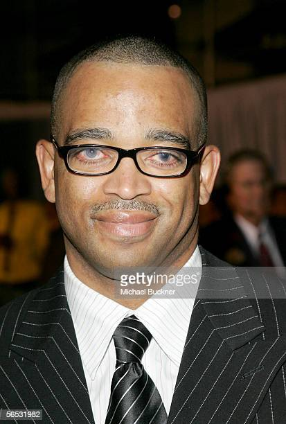 ESPN anchor Stuart Scott arrives at the premiere of Walt Disney Pictures' Glory Road at the Pantages Theatre on January 5 2006 in Los Angeles...