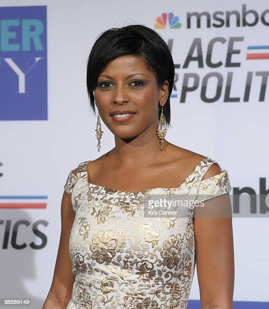 Anchor Tamron Hall attends MSNBC's Radio and Television Correspondents Dinner after party at the Historical Society of Washington DC on June 19 2009...