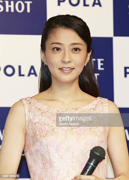 Anchor / TV personality Mao Kobayashi attends the POLA PR event on March 10 2011 in Tokyo Japan
