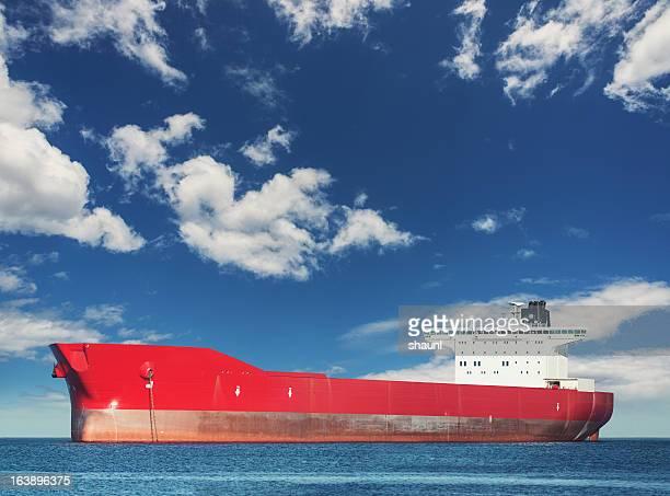 Anchored Oil Tanker