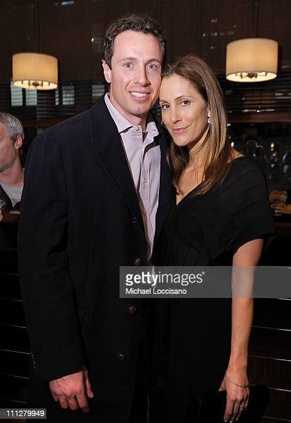 Anchorman Chris Cuomo and wife Gotham magazine editorinchief Cristina Greeven Cuomo attend the HBO Documentary Screening Of His Way at Time Warner...