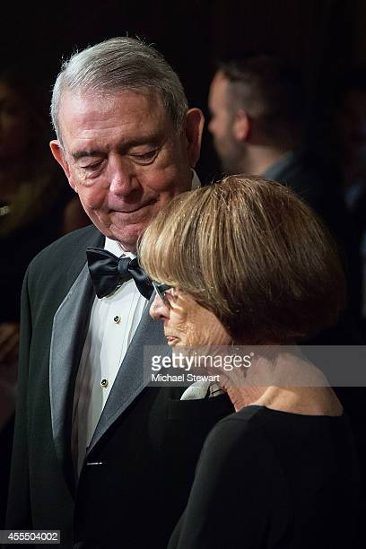 Anchorman Dan Rather and Jean Goebel attend the 2014 American Theatre Wing Gala on September 15 2014 in New York City