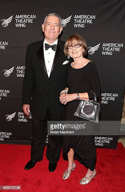 Anchorman Dan Rather and Jean Goebel attend The 2014 American Theatre Wing Gala Honoring Dame Angela Landsbury on September 15 2014 in New York...