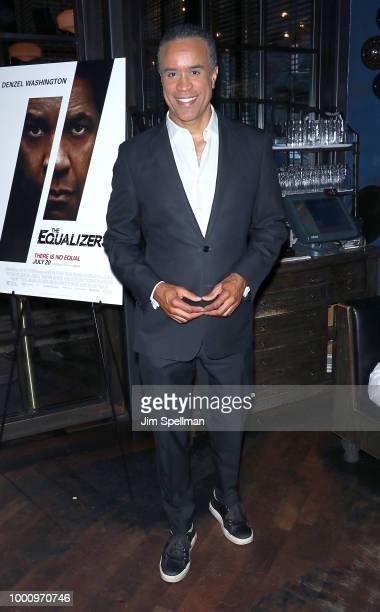 TV anchorman Maurice DuBois attends the special screening of 'The Equalizer 2' hosted by Sony Pictures at The Roxy Hotel on July 17 2018 in New York...