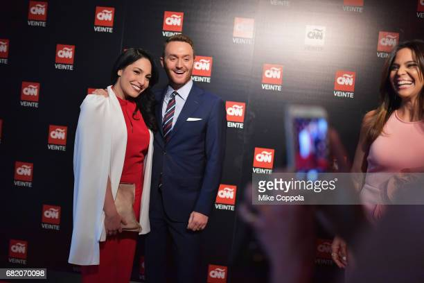 Anchors Alejandra Oraa and Samuel Burke attend the 2017 CNNE Upfront on May 11 2017 in New York City 27008_001