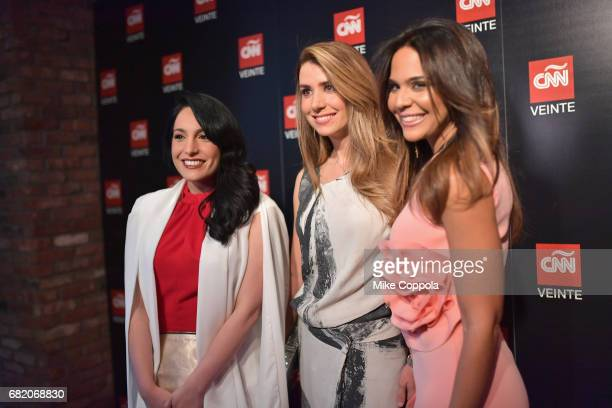 CNNE Anchors Alejandra Oraa Elizabeth Perez and Mariela Encarnacion attend the 2017 CNNE Upfront on May 11 2017 in New York City 27008_001