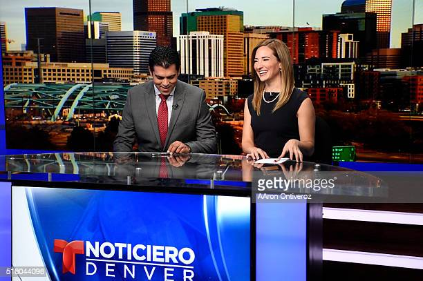 Anchors Carlos Rausseo and Pamela Padilla prepare for their 430 pm telecast Telemundo Denver is coming on strong thanks to major investment by NBC...