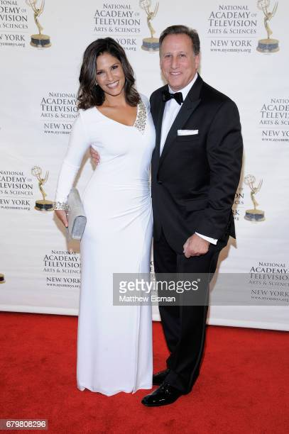 TV anchors Darlene Rodriguez and Bruce Beck attend the 60th Anniversary New York Emmy Awards Gala at Marriott Marquis Times Square on May 6 2017 in...