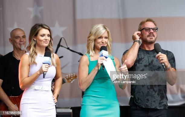 FOX anchors Jillian Mele Ainsley jEarhardt join Phil Vassar as performs on FOX Friends AllAmerican Summer Concert Series on July 19 2019 in New York...