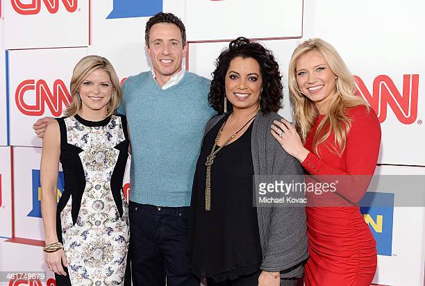 CNN anchors Kate Bolduan Chris Cuomo Michaela Pereira and Indra Petersons attend the 2014 TCA Winter Press Tour CNN AfterParty on January 10 2014 in...