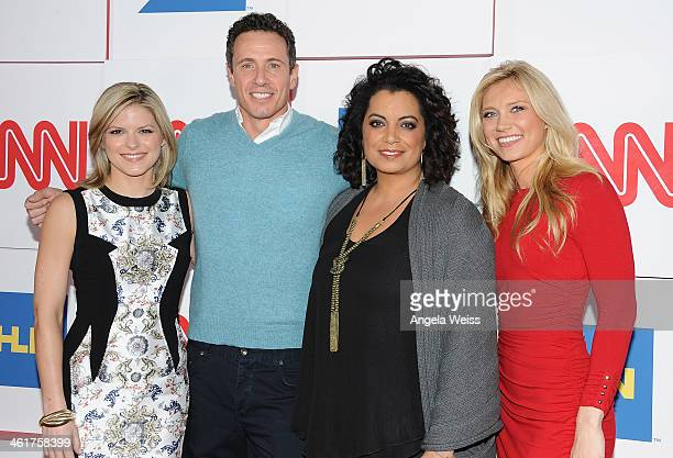 CNN anchors Kate Bolduan Chris Cuomo Michaela Pereira and Indra Petersons attend the CNN Worldwide AllStar 2014 Winter TCA Party at Langham Hotel on...