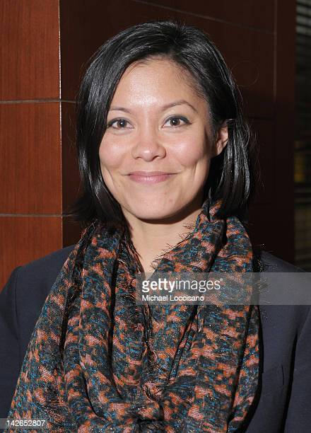Anchorwoman Alex Wagner attends the after party for the Veep screening at Porter House on April 10 2012 in New York City