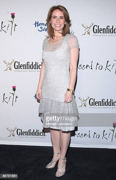 Anchorwoman Alexis Glick attends the Dressed To Kilt charity fashion show benefiting Friends of Scotland at M2 Lounge on March 30 2009 in New York...