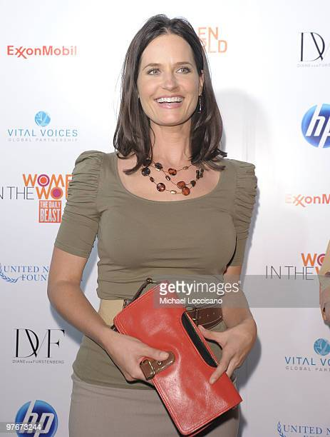 Anchorwoman Contessa Brewer attends the Women In The World Stories and Solutions global summit at Hudson Theatre on March 12 2010 in New York City
