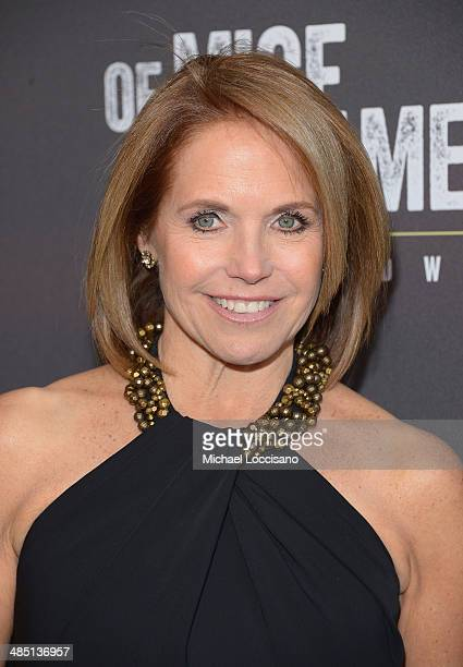 Anchorwoman Katie Couric attends the Broadway opening night for Of Mice and Men at Longacre Theatre on April 16 2014 in New York City
