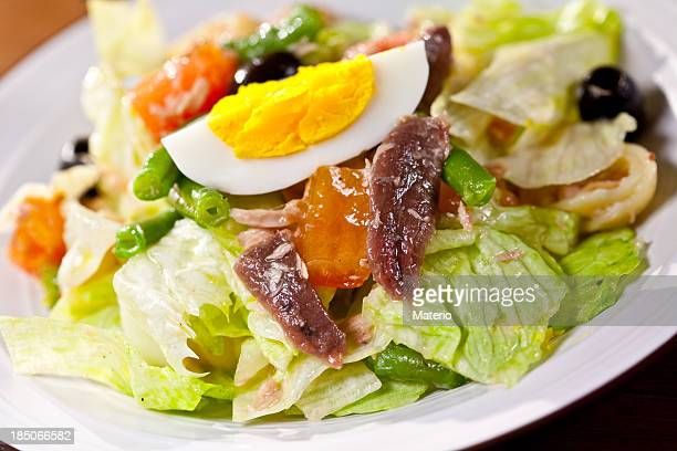Anchovy Salad and vinaigrette dressing