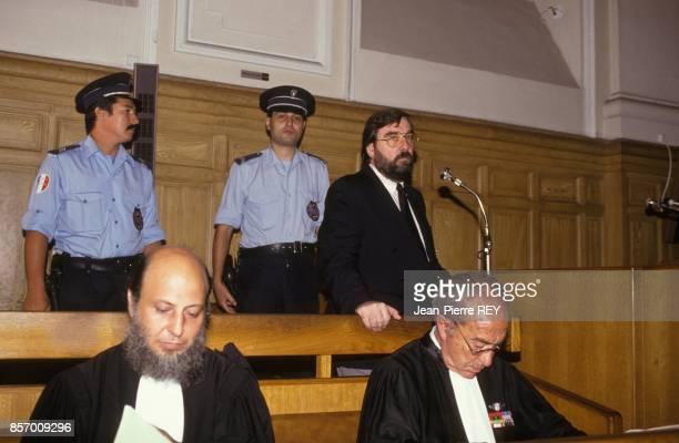 L'ancien bras droit du maire Jacques Medecin Jean Oltra juge pour usage de faux et abus de confiance le 12 septembre 1991 a Nice France