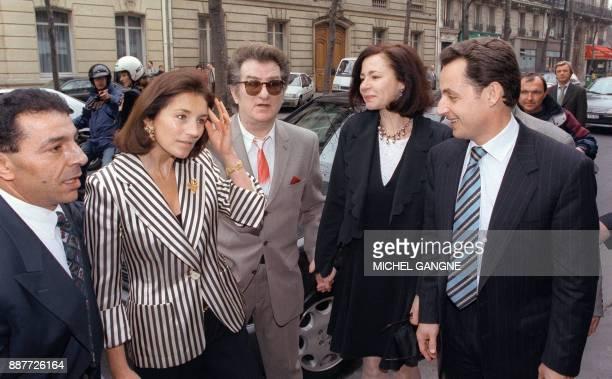 L'ancien ministre du Budget d'Edouard Balladur Nicolas Sarkozy maire de NeuillySurSeine et porteparole du RPR accompagnié de son épouse Cécilia...