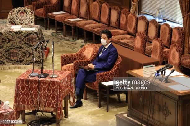 Ancien premier ministre japonais Shinzo Abe le 25 décembre 2020 à Tokyo, Japon.
