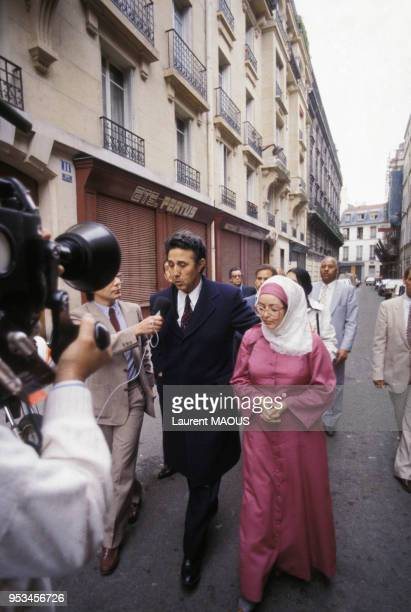 L'ancien président Ahmed Ben Bella en 1981 à Paris France