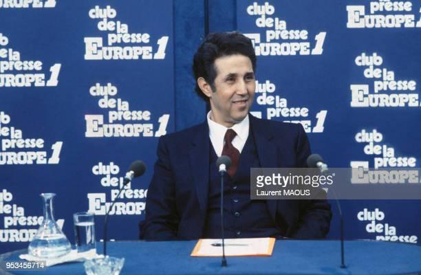 L'ancien président Ahmed Ben Bella lors de l'émission 'Le grand débat de la presse' chez Europe1 en juillet 1981 à Paris en France
