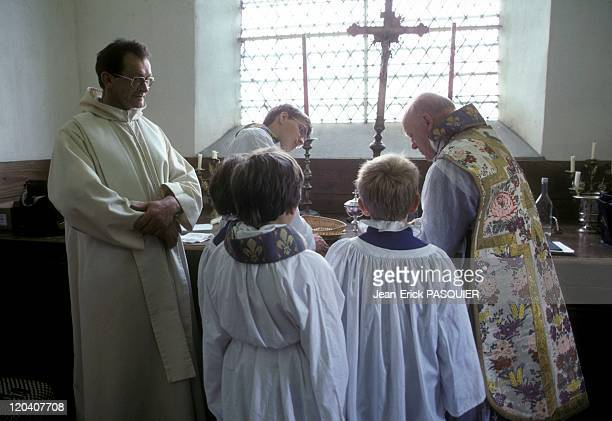 Ancient And Modern In France In 1987 Meet the abbot with a traditional modern priestEverything is going wella Country Priest Father Quintin...