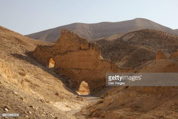 Ancient aqueduct in the Judean Desert