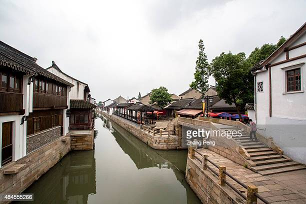 Ancient architectures and canal in Luzhi town Luzhi Town a famous historic old town located in the Wuzhong District is one of the best preserved old...