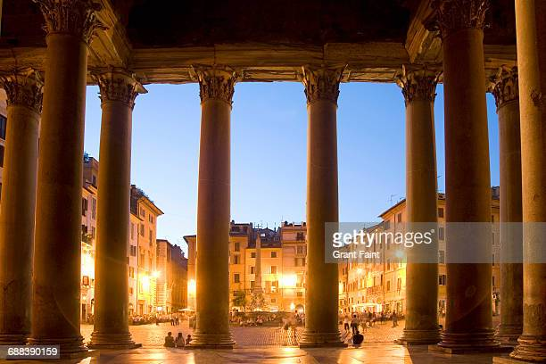 ancient building. - pantheon roma foto e immagini stock