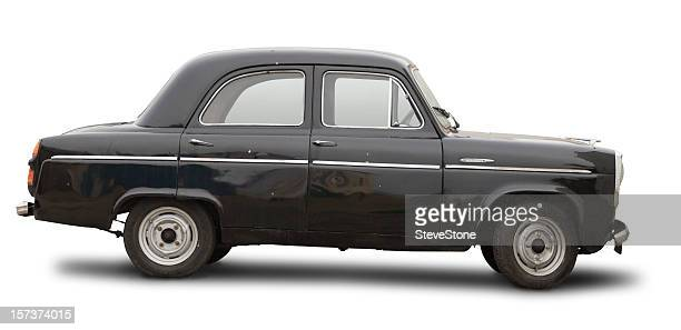 Ancient car isolated with clipping path