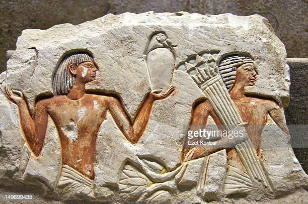 Ancient carving at museum of Saqqara.