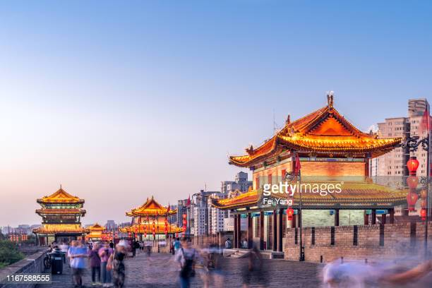 ancient chinese circumvallation - china stock pictures, royalty-free photos & images